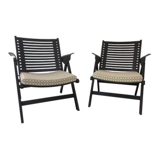 "DWR Niko Kralj ""Rex"" Folding Chairs - A Pair"