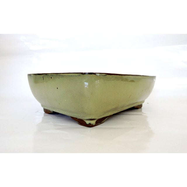 Olive Green Japanese Bonsai Planter - Image 2 of 6