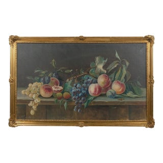 1930 Grapes and Peaches Fruit Still Life For Sale