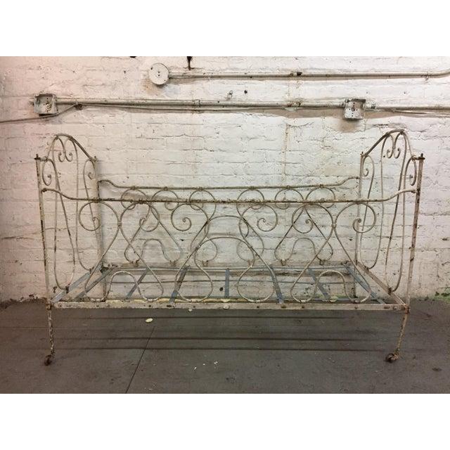 Antique Iron Crib | Chairish