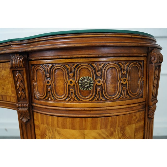 Louis XVI Kidney Shape Marquetry Inlaid Vanity - Image 5 of 10