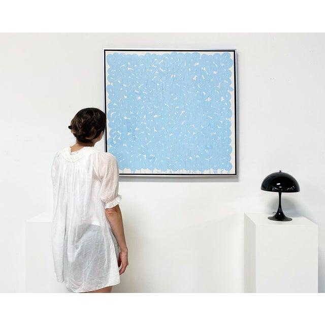 "John O'Hara Exclusive John O'Hara ""Series Aw, Blue"" Encaustic Painting For Sale - Image 4 of 8"