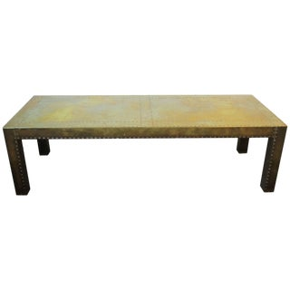 Brass Rectangular Coffee or Cocktail Table For Sale