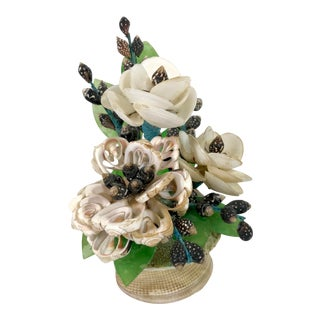 Handmade Shell Flower Sculpture For Sale