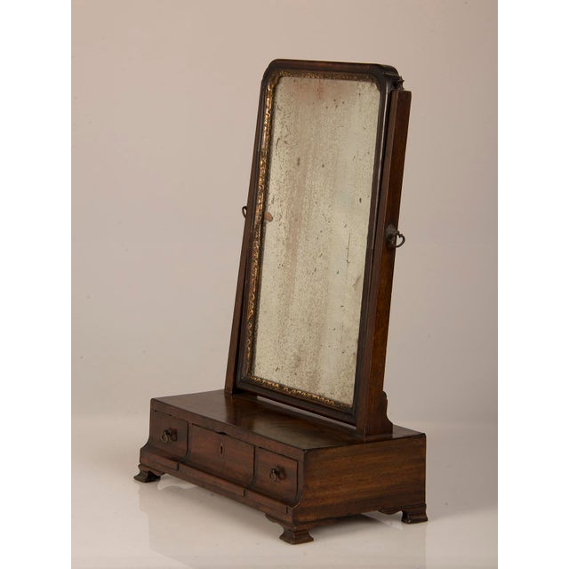 Late 18th Century 18th Century George III Period Mahogany Dressing Mirror For Sale - Image 5 of 8