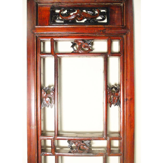 Wood 1800-1849 Antique Chinese Cunninghamia Wood Screen Panels - a Pair For Sale - Image 7 of 11