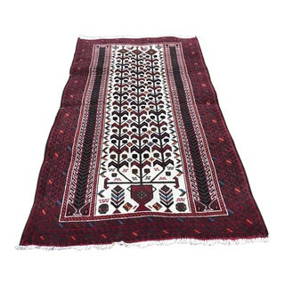 1960s Caucasian Handknotted Area Rug For Sale