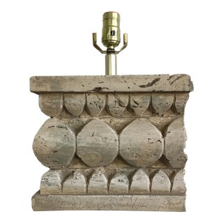Architectural Salvage Style Column Table Lamp For Sale