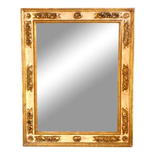 Hollywood Regency Carved Wood and Gesso Mirror For Sale