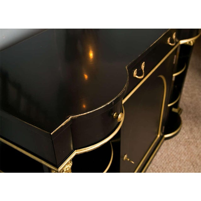French French Empire Style Ebonized Server by Jansen For Sale - Image 3 of 8
