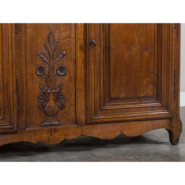 Lights Mid 19th Century Antique French Louis XV Period Carved Oak Enfilade For Sale - Image 7 of 11