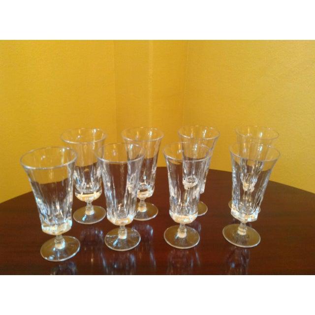 Crystal 1950s Vintage Crystal Goblets - Set of 8 For Sale - Image 7 of 8
