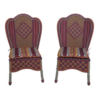 Mackenzie-Childs Patio Chairs- A Pair For Sale