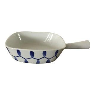 Vintage Danmark Danish Modern Lyngby Porcelain Casserole Dish For Sale