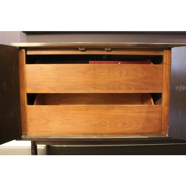 Asian Mid-Century Asian-Style Hardware Mahogany Buffet For Sale - Image 3 of 7