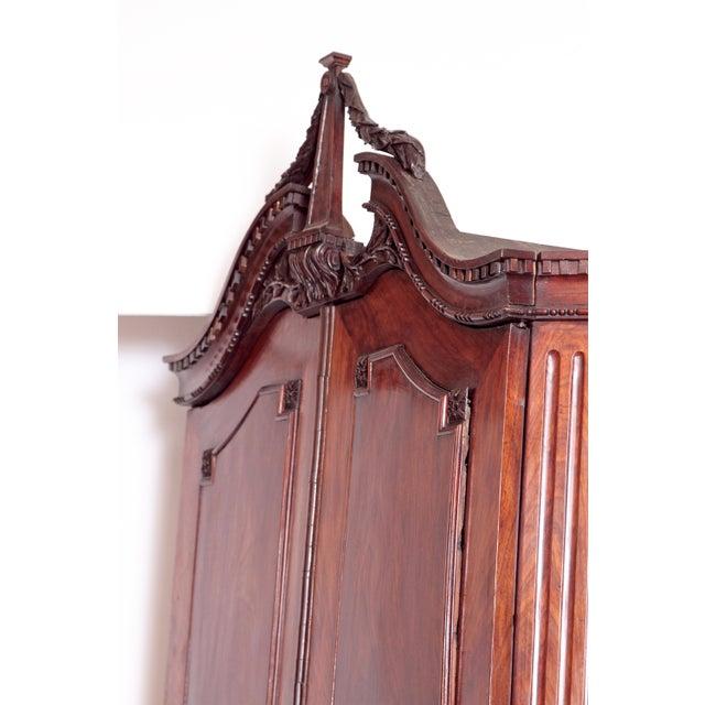 18th Century Continental Mahogany Corner Cabinet For Sale In Dallas - Image 6 of 10