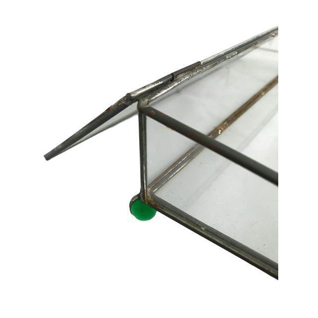 Rectangular Glass Box on 4 Marble Feet - Image 4 of 8