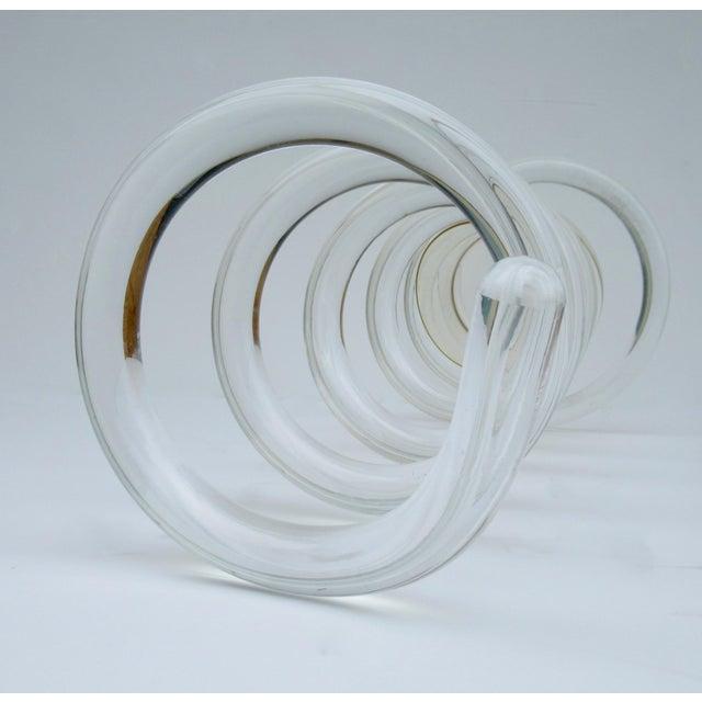 "C.1950s Mid-Century Dorothy Thorpe Tubular ""Infinity,' Swirled Lucite Umbrella Stand, Holder For Sale - Image 12 of 13"
