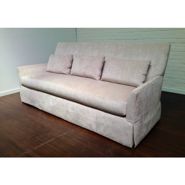 "SHOWROOM SAMPLE. One of our best sellers in an Osborne and Little ""Sheelin"" chenille (F6682/08) from Italy. A loose seat,..."