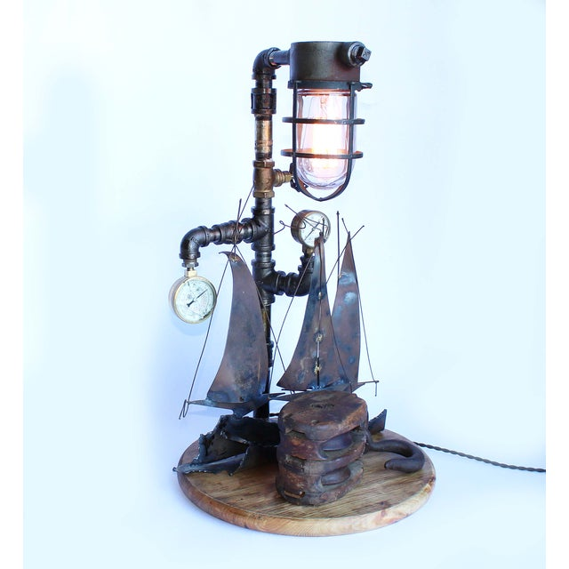Vintage Nautical Lamp - Image 6 of 7