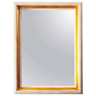 Paul Marra Design Cove Mirror in Driftwood and Gold For Sale