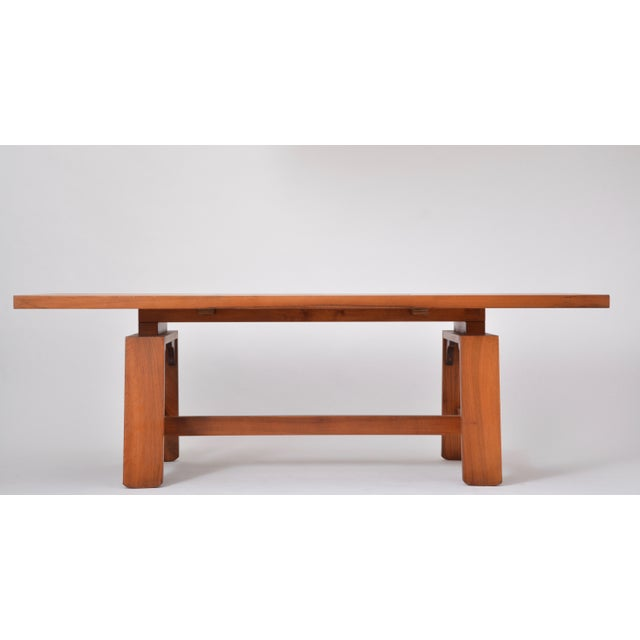 Large Dining Table in Walnut Veneer by Silvio Coppola, Bernini, Italy, 1964 For Sale - Image 9 of 12