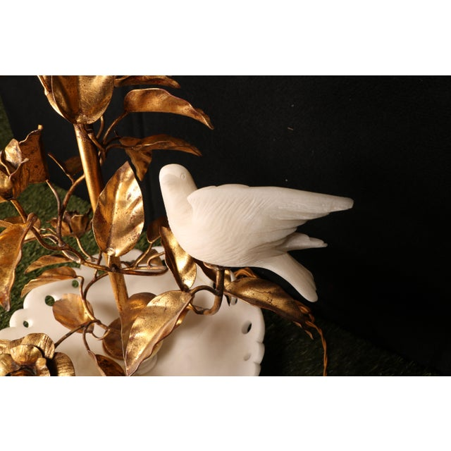Italian Alabaster Table Lamp For Sale - Image 5 of 8