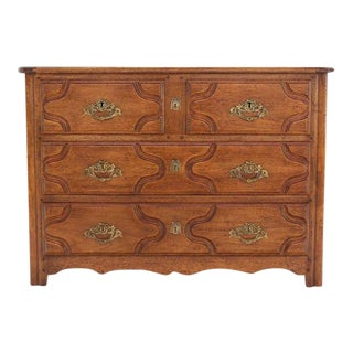 Early 20th Century Solid Wood Gothic Three Drawer Bachelor Chest of Drawers For Sale
