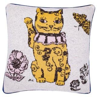Minou Bonheur Cashmere Pillow For Sale