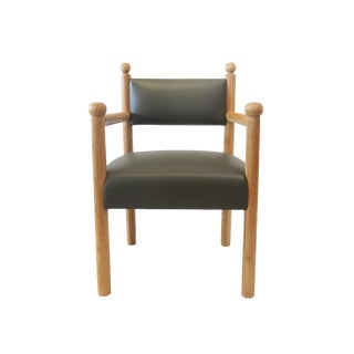 Rustic Modern Style Dining Chair With Turned Finals by Martin and Brockett For Sale