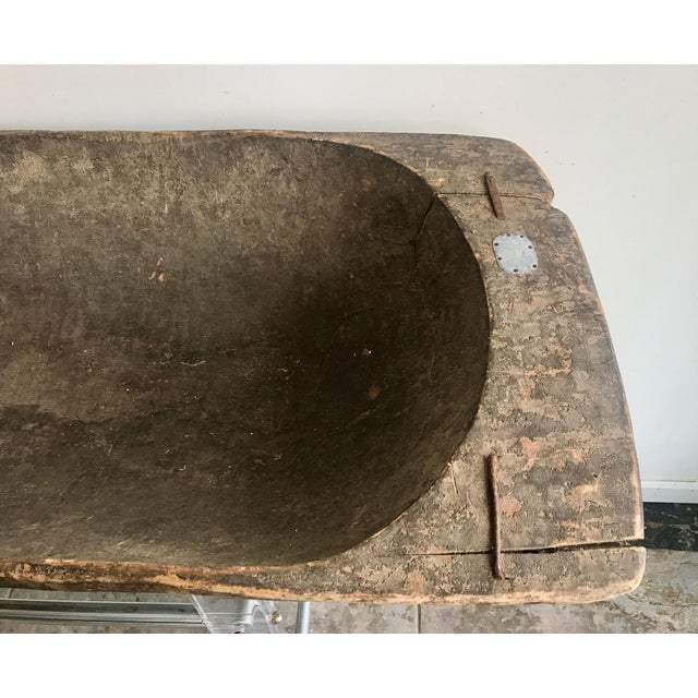 Islamic Antique Turkish Boho Rustic Dough Bowl For Sale - Image 3 of 7