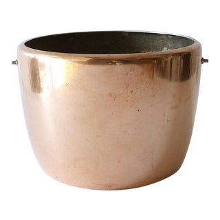 19th Century Copper Planter With Flat Bottom For Sale