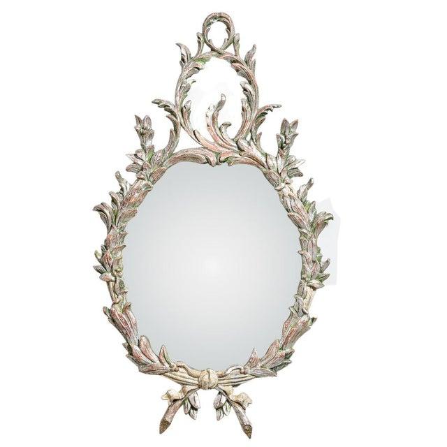 Hollywood Regency Italian Florentine Silver Gilt Wood Mirror For Sale - Image 13 of 13