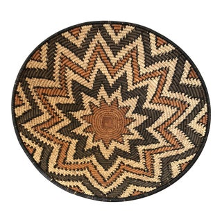 20th Century Boho Chic Natural Fiber Basket For Sale