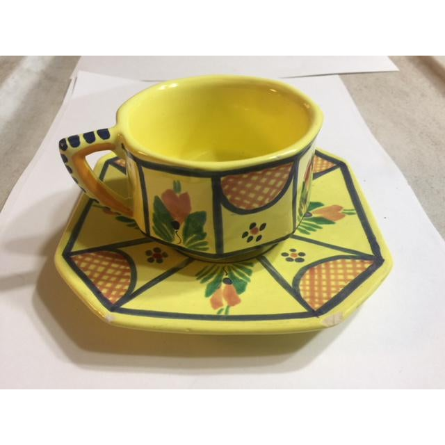 Henriot Quimper Yellow Quimper Pottery Dinnerware - 36 Pieces For Sale - Image 4 of 10