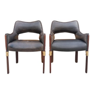 1960s Vintage Brazilian-Style Modernist Armchairs - a Pair