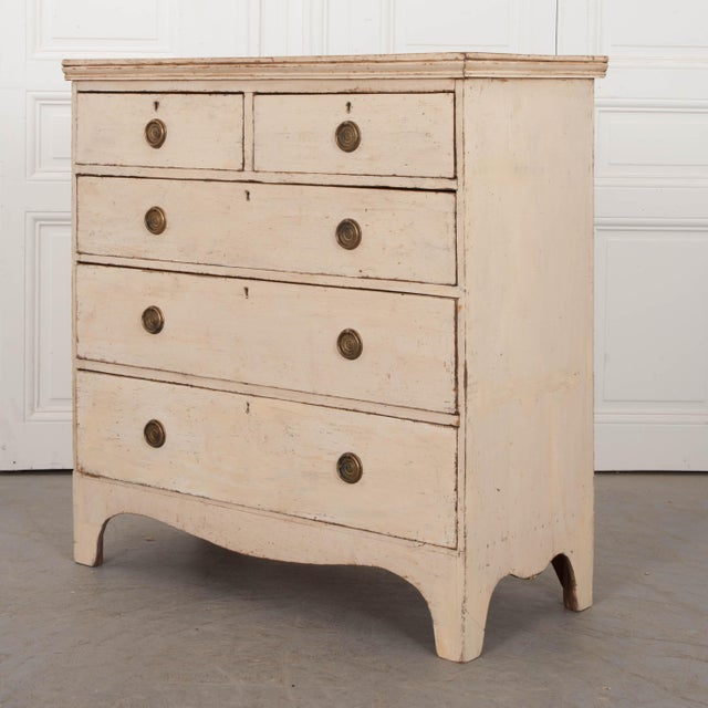 Early 20th Century 20th Century English Edwardian Painted Chest For Sale - Image 5 of 9
