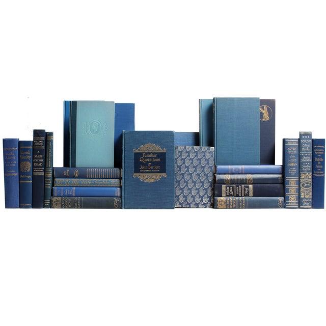 Decorative Gilt Blue Books- Set of 24 - Image 1 of 2