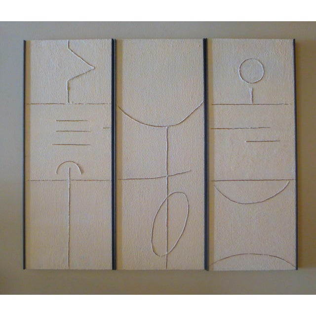 Gesso Gesso Art Triptych by Paul Marra For Sale - Image 7 of 7