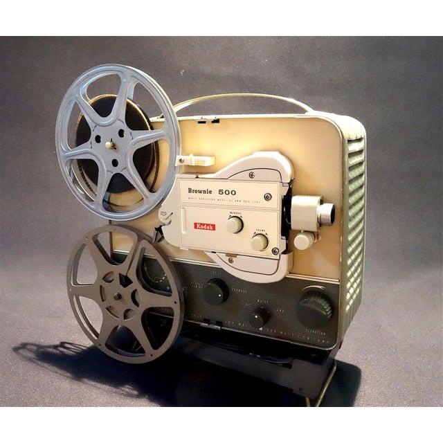 Black Vintage Art Deco Kodak 8mm Movie Projector Circa 1950s. Fabulous Mid Century Streamline Look For Sale - Image 8 of 8