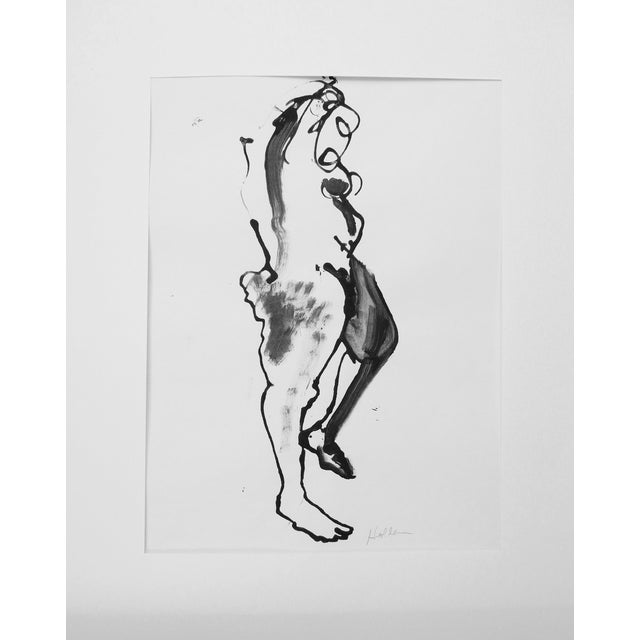 Martha Holden Nude Ink Drawing - Image 1 of 5