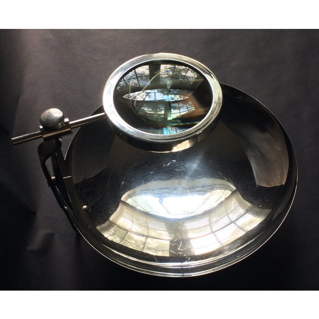 Metal Rare Early 20th Century Parabolic Reflector Candle Holder Wall Sconce For Sale - Image 7 of 9