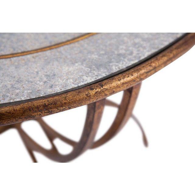 Maison Baguès Demi-Lune Sidetables With Mirrored Glass Tops For Sale - Image 10 of 13