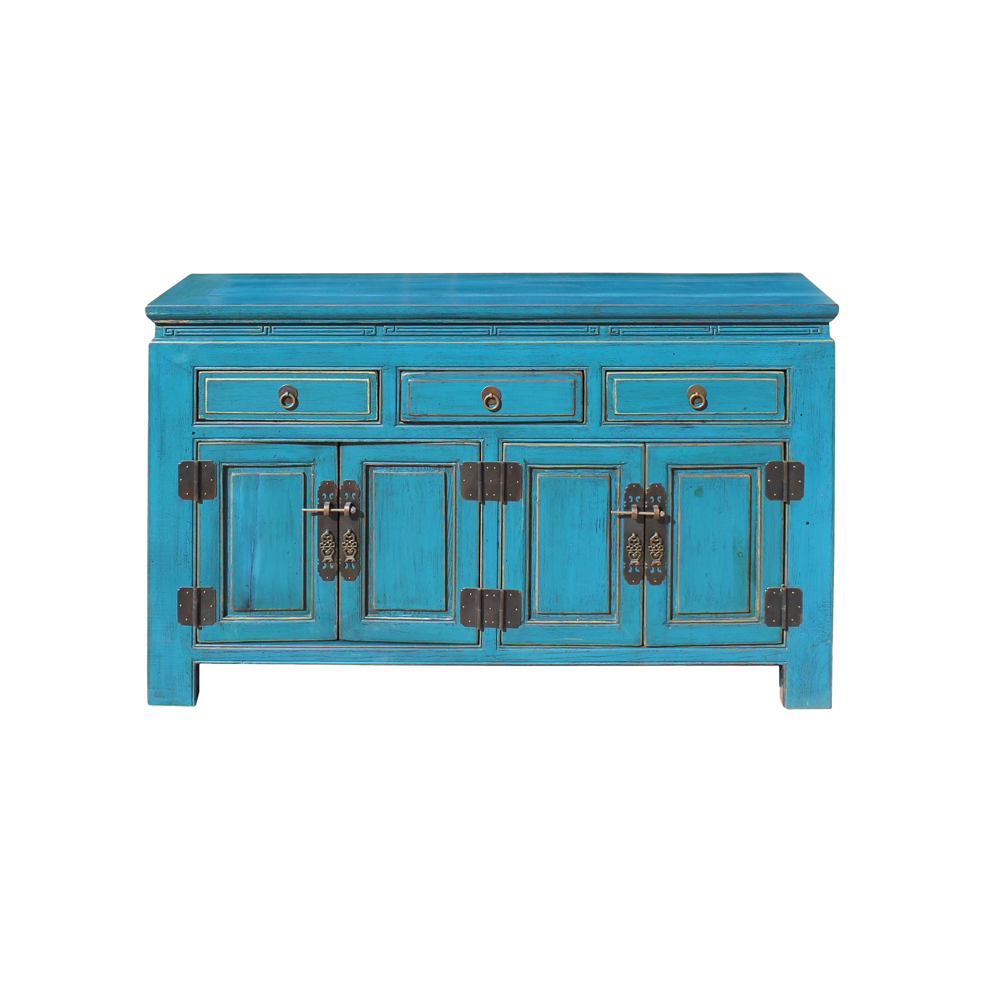 distressed blue console table antique oriental distressed rustic teal blue lacquer console table cabinet for sale vintage used tables chairish