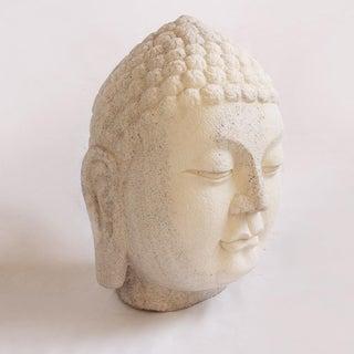 White Stone Buddha Head Preview