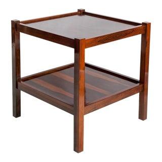 Mid-Century Brazilian Side Table in Jacaranda For Sale