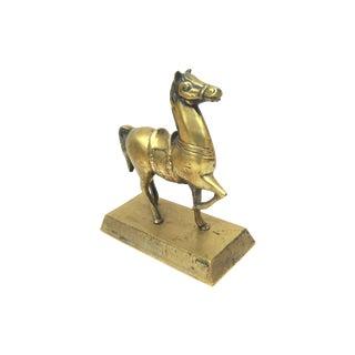 Brass Horse Figure Doorstop