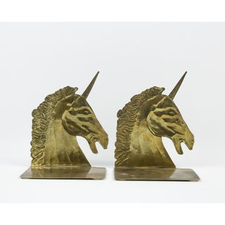 1970s Brass Unicorn Bookends - a Pair Preview