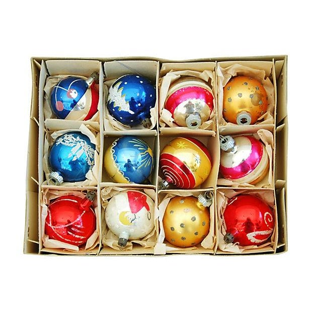 1960s Christmas Ornaments with Box - Set of 12 - Image 3 of 9