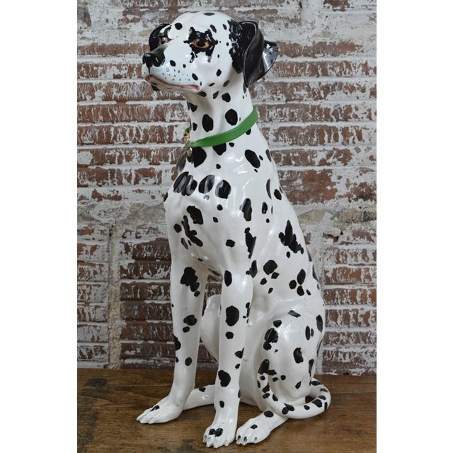 Ceramic Vintage 1960s Ceramic Dalmatian Dog Figure For Sale - Image 7 of 13